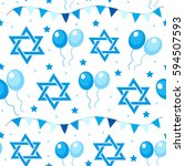 happy israel independence day... | Shutterstock .eps vector #594507593