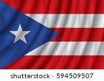 puerto rico flag vector... | Shutterstock .eps vector #594509507