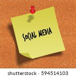 social media handwritten on... | Shutterstock . vector #594514103