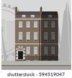 english traditional brick... | Shutterstock .eps vector #594519047