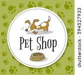 pet shop logo vector design ...   Shutterstock .eps vector #594527933