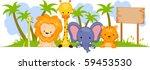 Safari Animal Banner   Vector