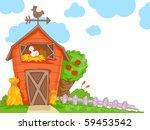 barn   vector | Shutterstock .eps vector #59453542