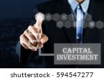 business man pointing hand on... | Shutterstock . vector #594547277