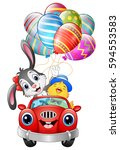 vector illustration of easter... | Shutterstock .eps vector #594553583