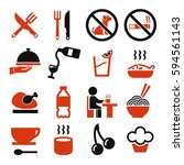 food  eat icon set | Shutterstock .eps vector #594561143