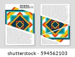 abstract vector layout... | Shutterstock .eps vector #594562103