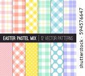 Easter Colors Polka Dots ...