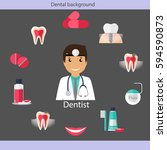 medical dental background.... | Shutterstock .eps vector #594590873