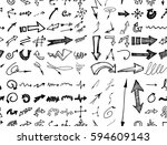 hand drawn doodle seamless... | Shutterstock .eps vector #594609143