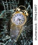 time flying through broken...   Shutterstock . vector #594614897