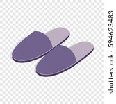 pair of slippers isometric icon ... | Shutterstock .eps vector #594623483