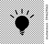 lightbulb flat icon .