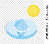 melting iceberg isometric icon... | Shutterstock .eps vector #594633203