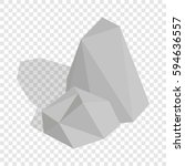 stones isometric icon 3d on a... | Shutterstock .eps vector #594636557