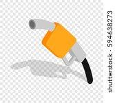 gas station gun isometric icon...