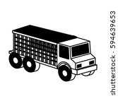 truck vehicle isometric icon | Shutterstock .eps vector #594639653