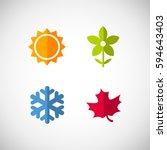 Vector Season Icons. Four...
