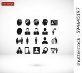 business man icons  vector best ... | Shutterstock .eps vector #594645197
