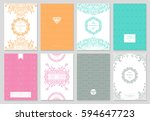 retro creative card template... | Shutterstock .eps vector #594647723