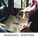 new beginning solution goals... | Shutterstock . vector #594670163