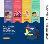 halloween infographic | Shutterstock .eps vector #594679043