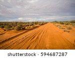 red desert road | Shutterstock . vector #594687287