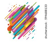 modern style abstraction with... | Shutterstock .eps vector #594688133