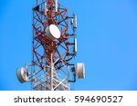 telecommunication tower with... | Shutterstock . vector #594690527