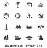 harbor web icons for user... | Shutterstock .eps vector #594694373