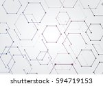 vector abstract futuristic.... | Shutterstock .eps vector #594719153