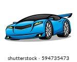 blue car. | Shutterstock .eps vector #594735473