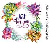wildflower succulentus flower... | Shutterstock . vector #594756047