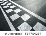 sunny finish and start pattern... | Shutterstock . vector #594764297