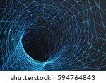 cosmic wormhole  space travel... | Shutterstock . vector #594764843