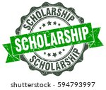 scholarship. stamp. sticker.... | Shutterstock .eps vector #594793997