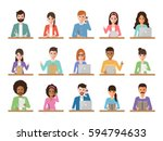 group of working people... | Shutterstock .eps vector #594794633