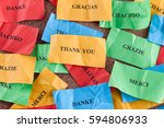 thank you in many languages on... | Shutterstock . vector #594806933