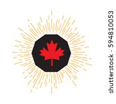 made in canada banner  flag red ...   Shutterstock .eps vector #594810053