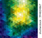polygonal geometric background ... | Shutterstock . vector #594824867