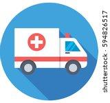 ambulance vector icon | Shutterstock .eps vector #594826517