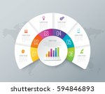 infographics design vector and... | Shutterstock .eps vector #594846893