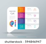 infographics design vector and... | Shutterstock .eps vector #594846947