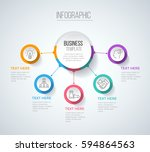 five steps infographics with... | Shutterstock .eps vector #594864563