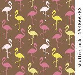 vector seamless pattern with... | Shutterstock .eps vector #594866783