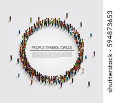 large group of people in the... | Shutterstock .eps vector #594873653