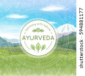 vector ayurveda illustration... | Shutterstock .eps vector #594881177