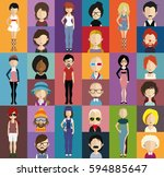 people avatar   with full body... | Shutterstock .eps vector #594885647