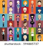 people avatar   with full body... | Shutterstock .eps vector #594885737