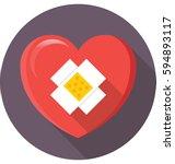 heart disease vector icon | Shutterstock .eps vector #594893117